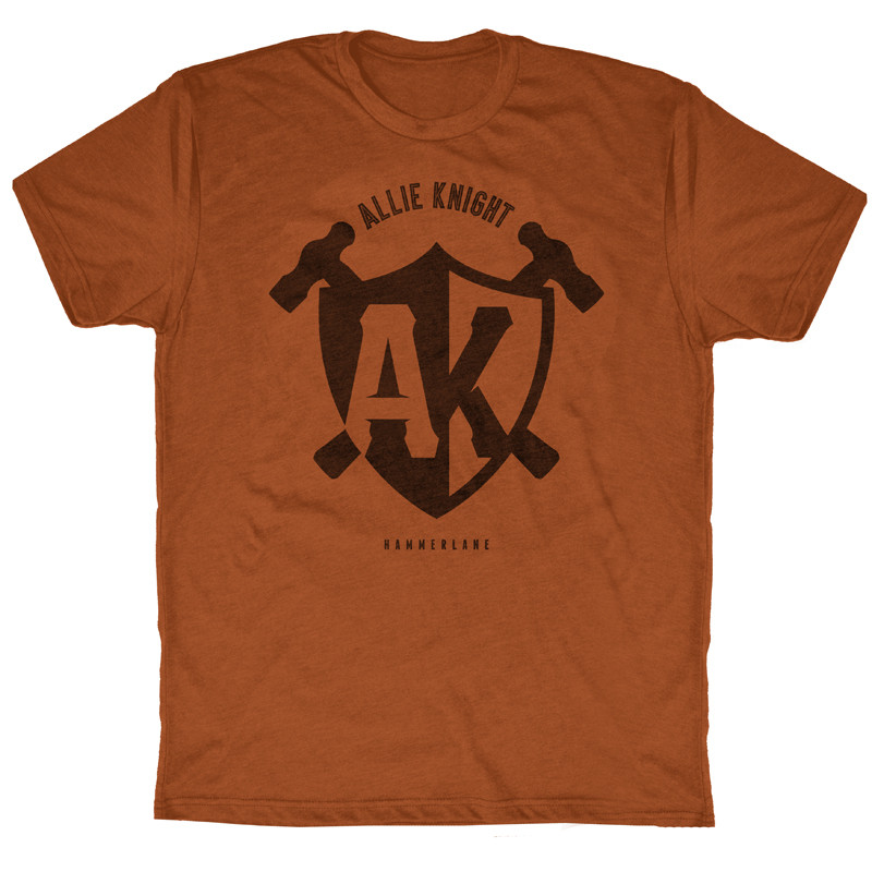 Shield AK Series Hammer Lane Trucker Shirt Shirt Orange