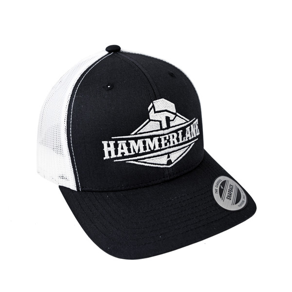 Snapback Black & White Hammer Lane Hat