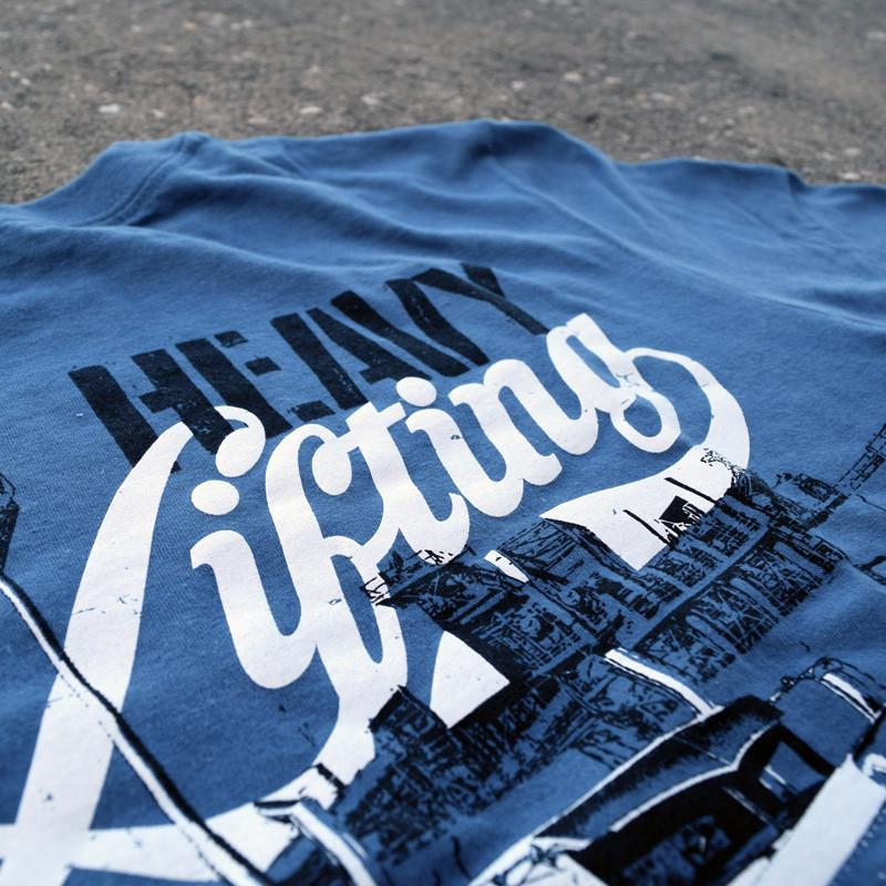 Heavy Lifting Hammer Lane Trucker Shirt Design Close Up