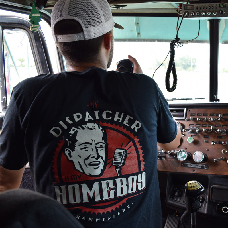 Dispatcher Hammer Lane T-Shirt On Trucker