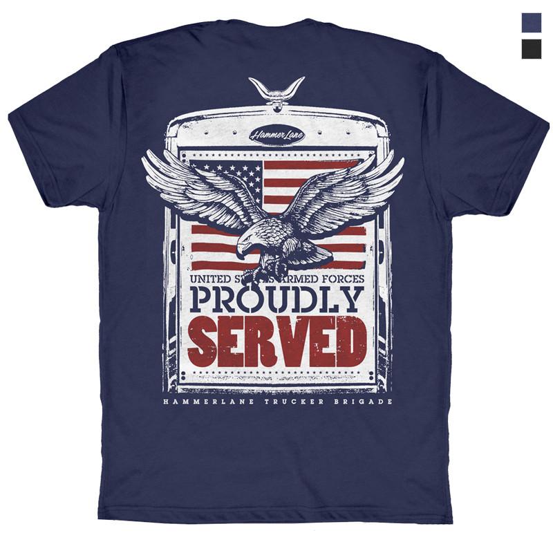 Veterans Hammer Lane T-Shirt Blue