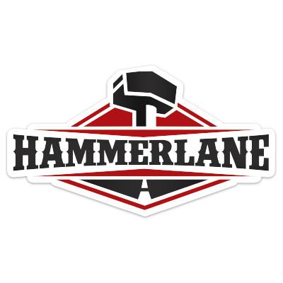 """Hammer Lane 4"""" Sticker"""