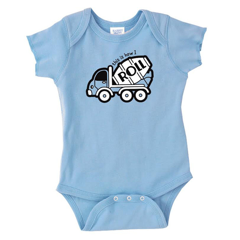 How I Roll Hammer Lane Infant One Piece Baby Blue