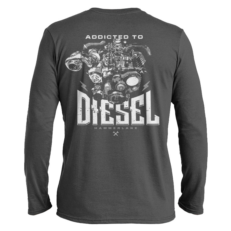 Addicted To Diesel Hammer Lane Long Sleeve T-Shirt