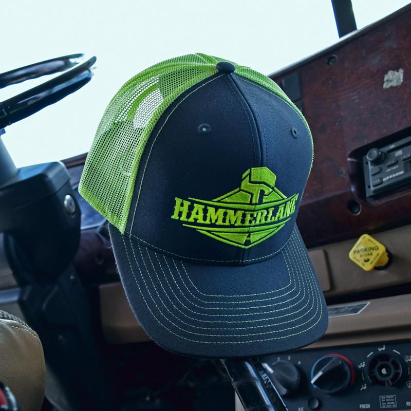 Snapback Neon Green Hammerlane Trucker Hat In Truck