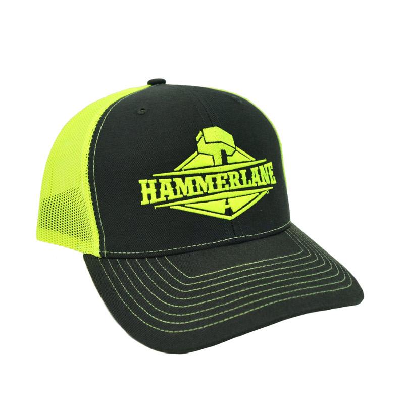 Snapback Neon Green Hammerlane Trucker Hat Angle