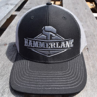 Hammerlane Silver Charcoal Snap Back Trucker Hat