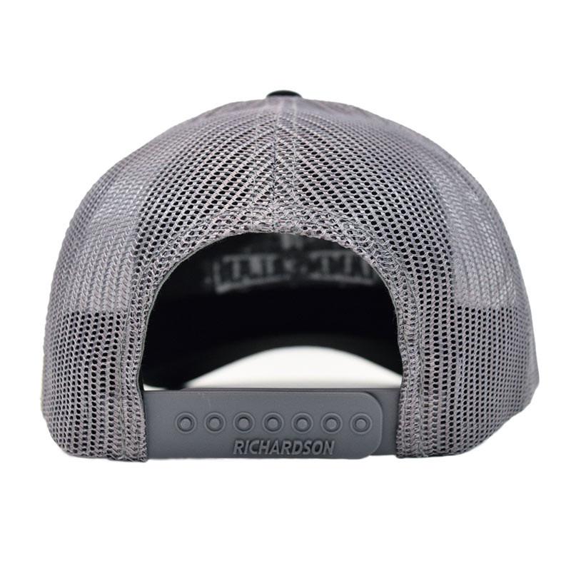 Hammerlane Silver Charcoal Snap Back Trucker Hat Back