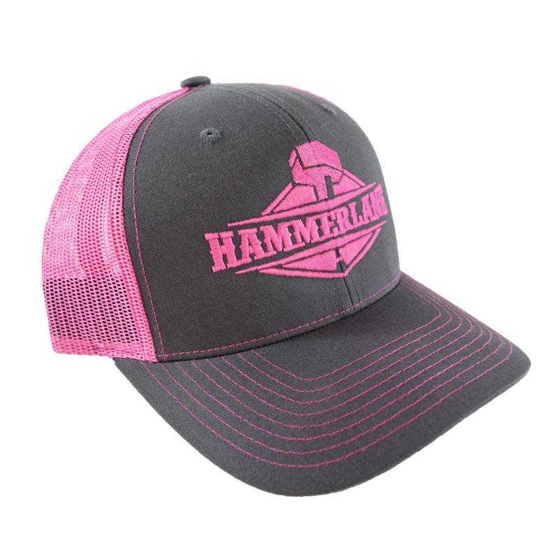 Snapback Neon Pink Hammerlane Trucker Hat Angle