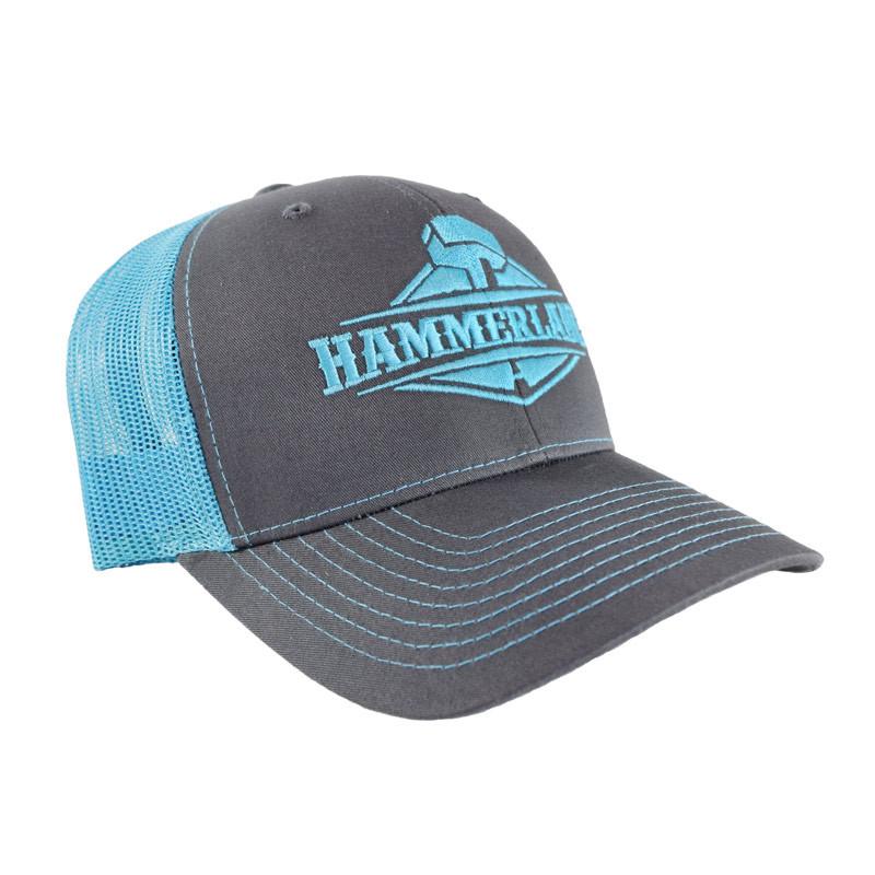 Snapback Neon Blue Hammerlane Trucker Hat Angle
