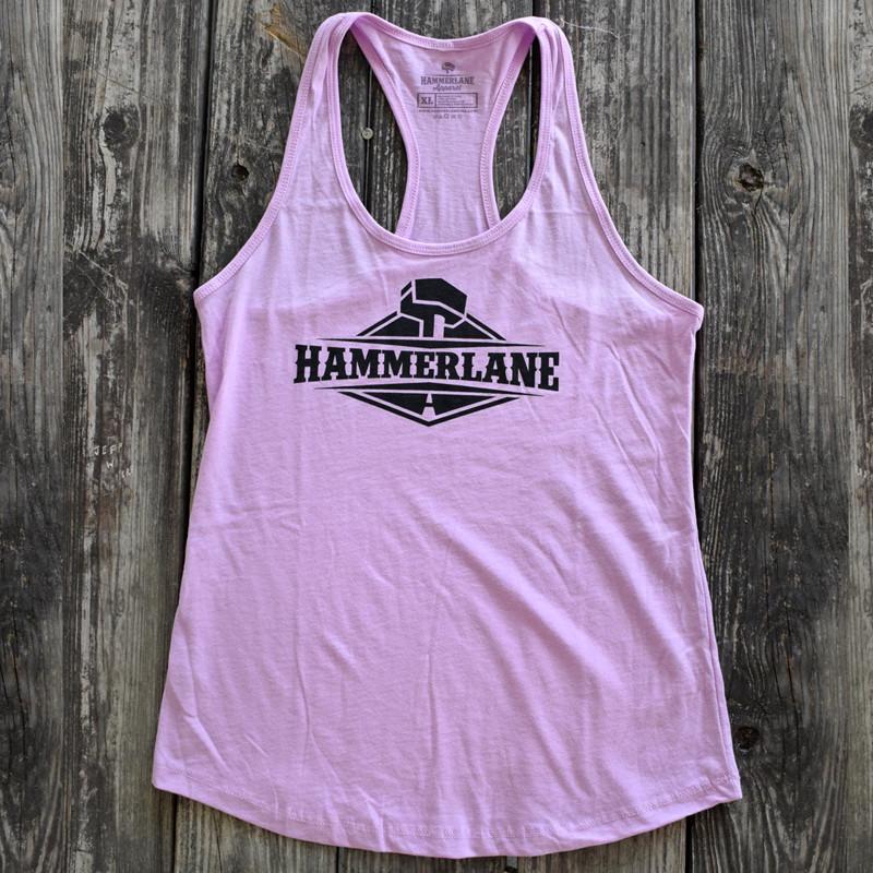 Ladies Hammer Lane Logo Tank Top Pink On Pallet