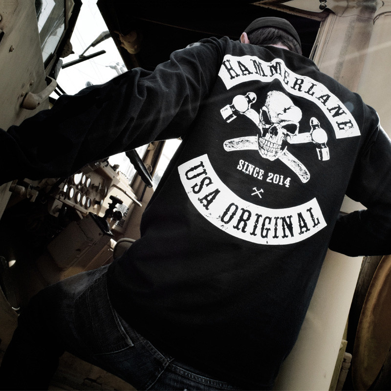 Hammer Lane Long Sleeve Skull T Shirt