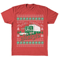 Diesel Powered Sleigh Hammer Lane Trucker T-Shirt