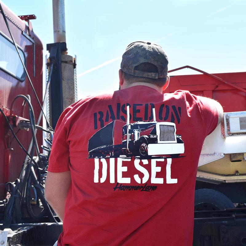 Raised On Diesel Hammer Lane T-Shirt On Model