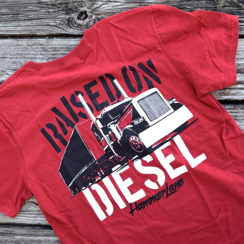 Raised On Diesel Hammer Lane T-Shirt Close Up
