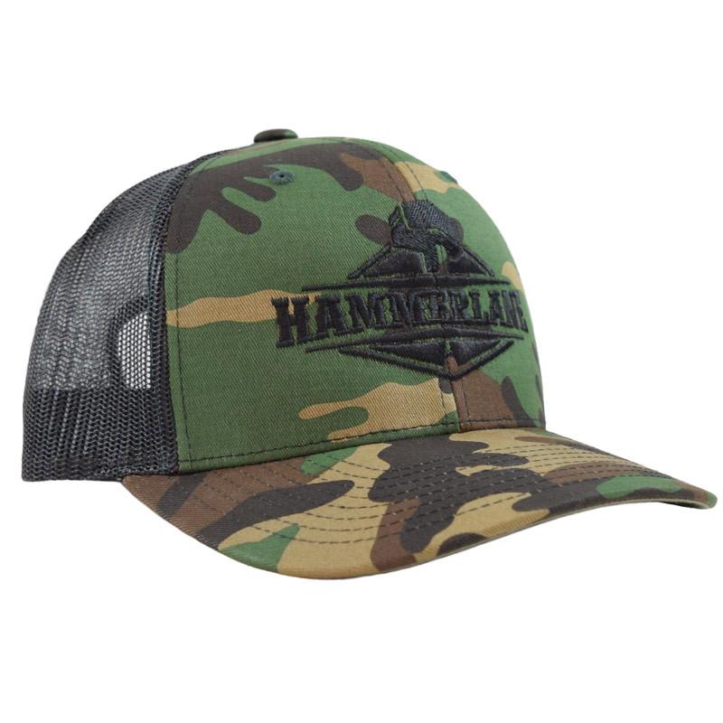 Snapback Camo Hammerlane Trucker Hat Angle
