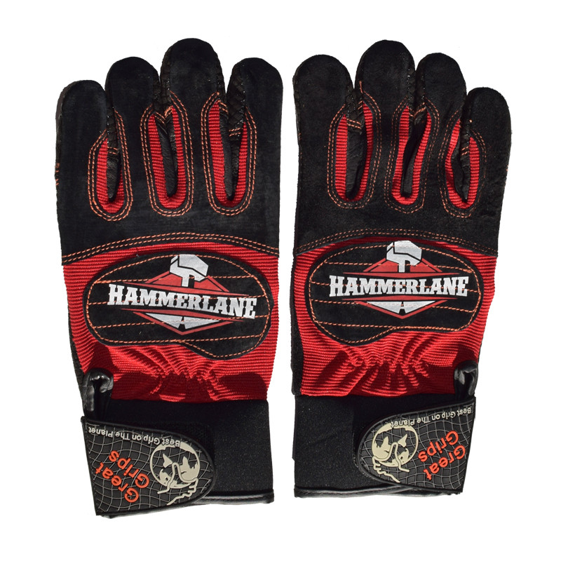 Hammer Lane Multipurpose Mens Trucker Gloves Fire Red Side By Side