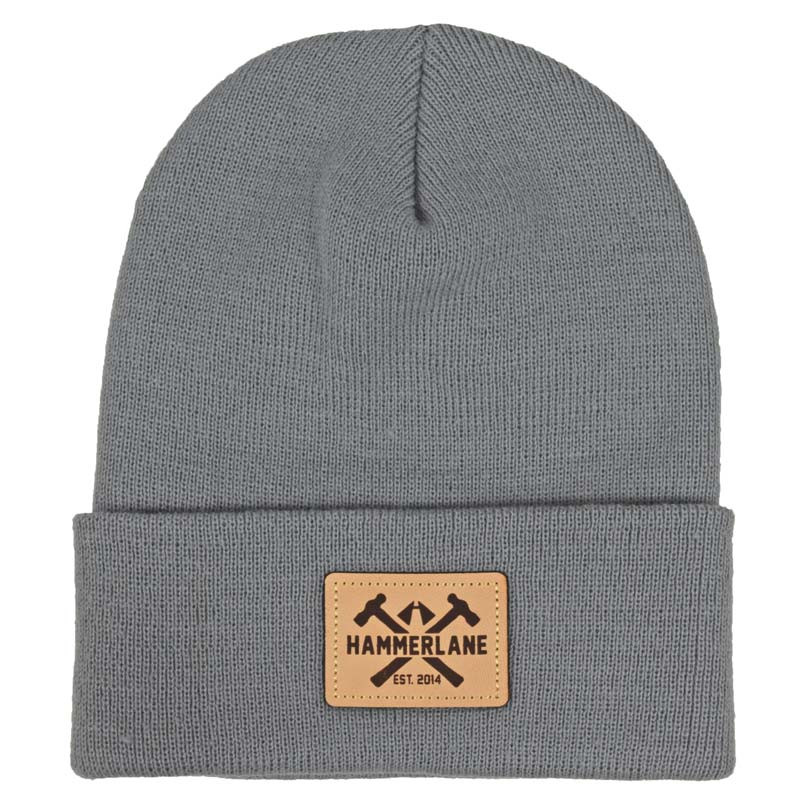 Hammer Lane Logo Patch Beanie Grey