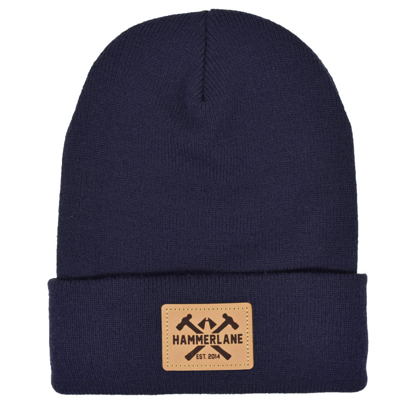Hammer Lane Logo Patch Beanie Navy