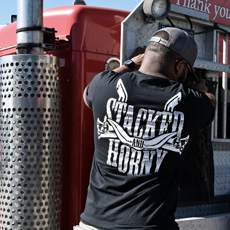 Stacked Hammer Lane T-Shirt On Model
