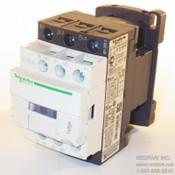 LC1D12G7 Schneider Electric Contactor Non-Reversing 25A 120VAC coil