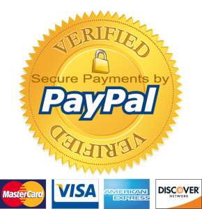 We are Paypal Verified and SSL Encrypted.