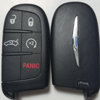 Chrysler 5 button Tombstone Keyless-Go Key COMPLETE TRUNK / Remote Start OEM fob smart key