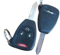 Jeep Liberty Patriot Compass Wrangler 4 button Remote Start Key  OEM 2007 2008 2009 2010 2011 2012 2013 2014