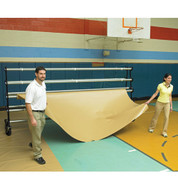 Deluxe Gym Floor Covers 32 oz. Tan/Royal