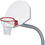 MacGregor Breakaway Rim Extra-Tough Playground Basketball System with Aluminum Backboard and 4' Ext