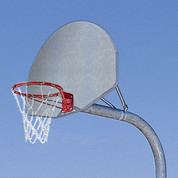 MacGregor Heavy Duty Basketball System with Double Rim and Chain Net with 5' Extension