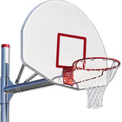 MacGregor Adjustable 3 1/2 Inch Post with Silver Backboard and No Shooters Square