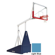 Light Blue Indoor Portable Porter 735 Adjustable Height Basketball System