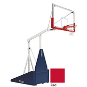 Red Indoor Portable Porter 735 Adjustable Height Basketball System