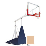 Tan Indoor Portable Porter 735 Adjustable Height Basketball System