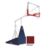 Maroon Indoor Portable Porter 735 Adjustable Height Basketball System