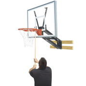 Bison Wall Mount Adjustable Height QwikChange Acrylic Basketball System - Acrylic Backboard