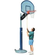 Bison QwikChange Adjustable Height Fan Backboard Basketball System