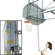 Bison Gymnasium Adjustable Height Wall Mounted Basketball System - Short Board
