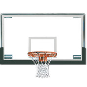 Forest Green Spalding Superglass Collegiate and High School Basketball Backboard and Goal Package