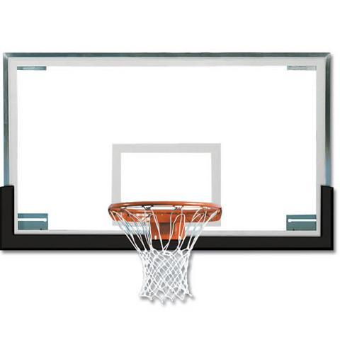 Orange Spalding Superglass Collegiate and High School Basketball Backboard and Goal Package