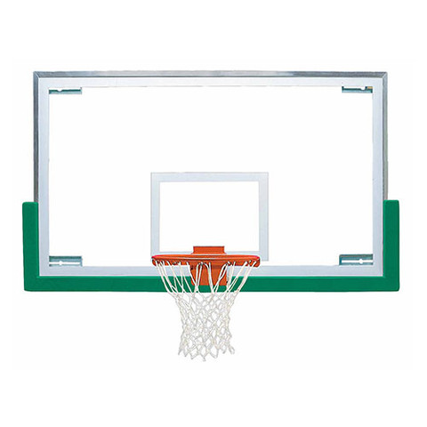 Bison Official High School Basketball System Backboard Rim and Brown Padding Package