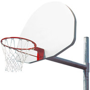 Universal Silver Aluminum Basketball Backboard with Rim and Net