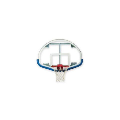 Bison Fan-Shaped Glass Basketball Backboard with Shooters Square and Black Padding
