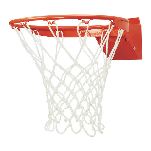 Bison Front Mount Flex Goal Breakaway Basketball Rim with Net
