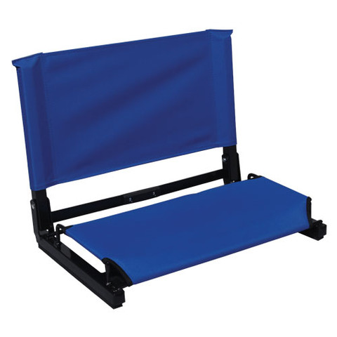 Black Portable Patented Stadium Chair Stadium Bleacher Seat with Back Support
