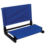 Navy Portable Large Deluxe Stadium Chair Stadium Bleacher Seat with Back Support