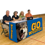 Bison Sport Pride Basketball Scorers Foldable Table Floor Model