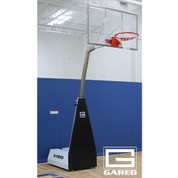 Gared Sports MICRO-Z54 Roll-Around Portable Basketball Goal in use.
