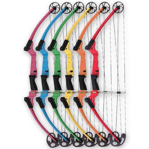 Purple Left Hand Genesis Fiberglass and Aluminum Instruction Archery Bow for Students